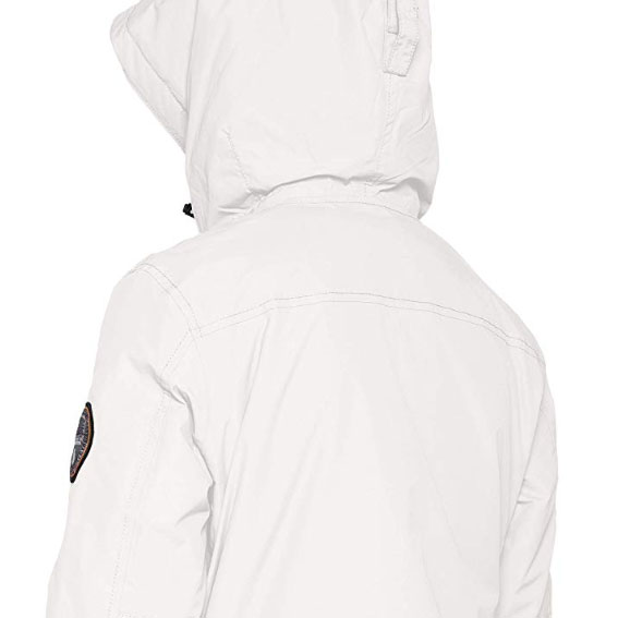 capucha norway blanca rainforest pocket técnica